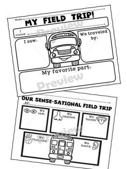 Field Trip Report Forms Set 2