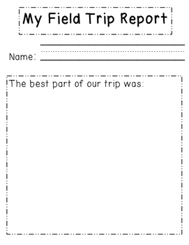 Field Trip Reports Bundle
