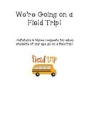 Field Trip Request Forms (Cafeteria & Nurse)