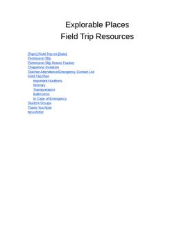 Field Trip Resource Book, Permission Slip