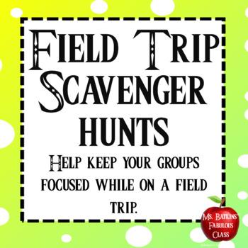 Field Trip Scavenger Hunt