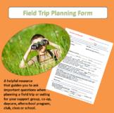 Field Trip Scheduling Form