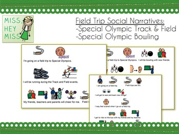 Special Olympics Social Narrative (Track/Field & Bowling)