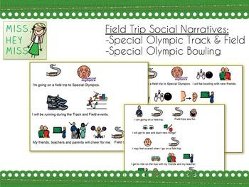 Special Olympics Social Narrative (Track/Field & Bowling)
