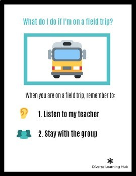 Field Trip Social Story Activities for Special Education