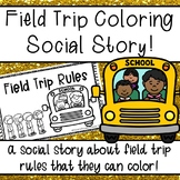 Field Trip Social Story Coloring Book