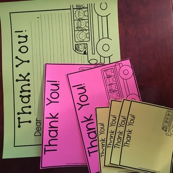 Field Trip Thank You Notes Editable*