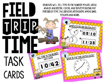 Field Trip Time Task Cards #8 (Telling Time)