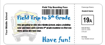Field Trip To Middle School Transition and Tour Program