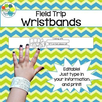 Field Trip Wristbands - Editable
