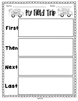 Field Trip Writing {Opinion & Transitional Words} with Graphic Organizers