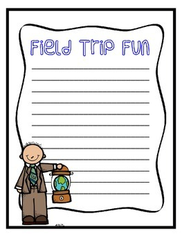Field Trip Writing Page