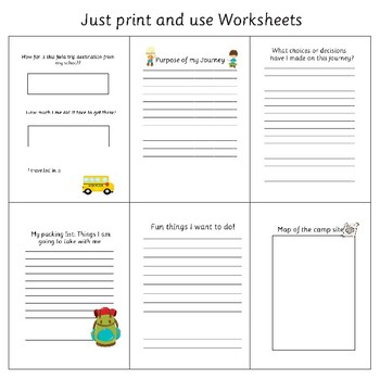 Field Trip or Camping - Travel Journal - Field Trip Reflection Worksheets