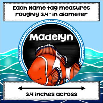 Field Trip to the Aquarium Editable Name Tags Ocean Underwater Sea Life