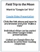 Field Trip to the Moon by John Hare Lesson Plan and Google Activities