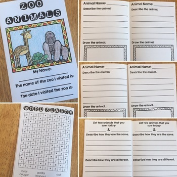 Field Trip - Zoo Activity Books