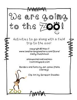 Field Trip to the Zoo for Early Elementary