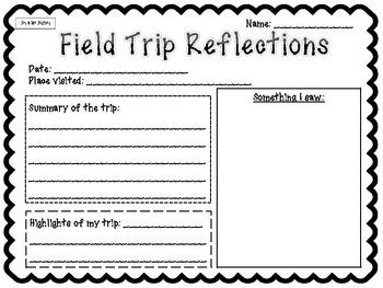 field trip reflection worksheet resultinfos. Black Bedroom Furniture Sets. Home Design Ideas