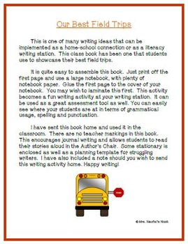 Recount Writing - Our Best Field Trips