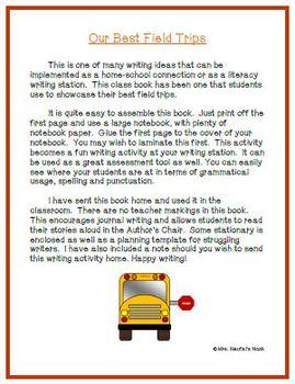 Recount Writing - Field Trips