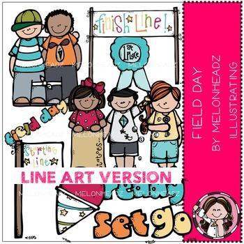 Melonheadz: Field day clip art - LINE ART