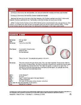 Field of Dreams: Study Guide for the Film