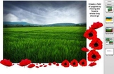 Field of Poppies Notebook Lesson - Space, Size, and Perspe