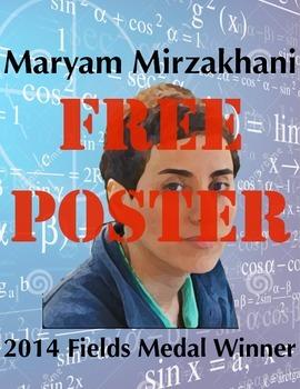 Fields Medal Winner Maryam Mizrakhami Poster