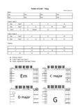 Fields of gold - Sting - Lead-sheet for bass, guitar and piano