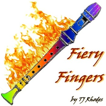 Fiery Fingers - Recorder Karate Fingering Chart Playalong - with Recorder