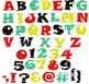 Fiesta Alphabet Letters and Numbers Clipart by Poppydreamz