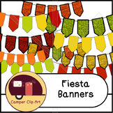 Fiesta Banners / Pennants Glitter and Solid {CU - ok!}
