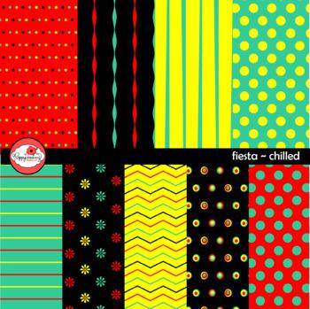 Fiesta Chilled Digital Scrapbook Paper by Poppydreamz