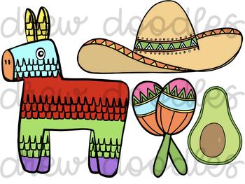 Fiesta/ Cinco De Mayo Digital Clip Art Set