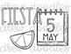 Fiesta/ Cinco De Mayo Digital Clip Art Set- Black Line Version