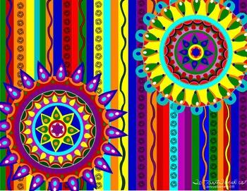 Fiesta * Cinco de Mayo * Backgrounds * Designs * Stripes