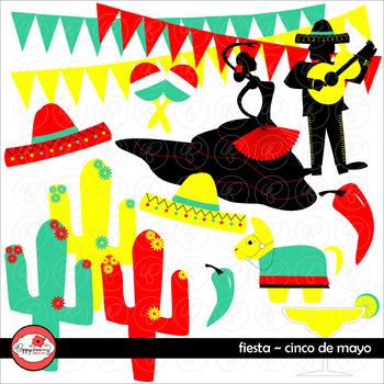 Fiesta Cinco de Mayo Clipart by Poppydreamz
