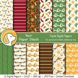 Fiesta Cinco de Mayo Digital Paper Pack, Mexico Vacation S