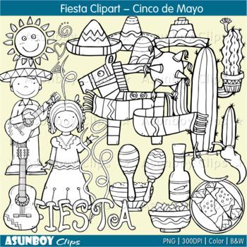 Fiesta Clipart - Cinco de Mayo ( Asunboy Clips )