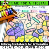 Fiesta Coloring Pages for Articulation