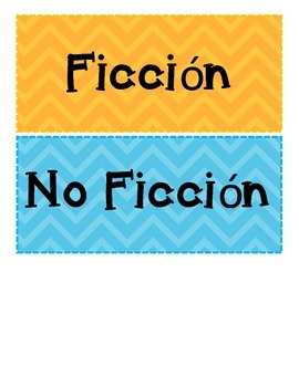 Fiesta Colors and Chevron Genre Labels in Spanish