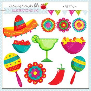 Fiesta Cute Digital Clipart, Cinco de Mayo Clip Art, Maracas, Sombrero Clipart