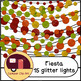 Fiesta Decorations / String Lights Glitter and Solid {CU -
