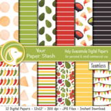 Fiesta Digital Papers for Mexican Themed Projects, Salsa C
