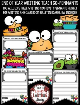 End of Year Craftivity - Taco Bulletin Board End of Year Writing Activity