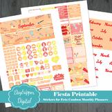 Fiesta Erin Condren Monthly Planner Printable Stickers