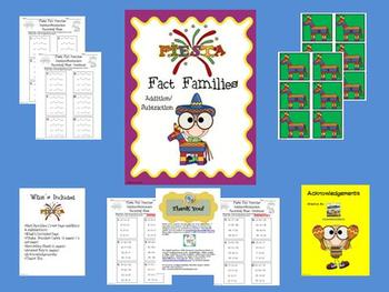 Fiesta Fact Family Math Center (Addition & Subtraction)