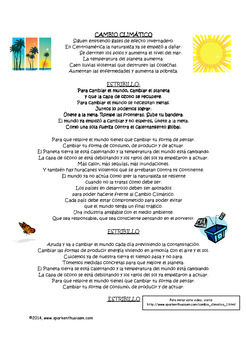Fiesta Friday!  Cambio Climatico Song Activity in Spanish & Discussion Questions