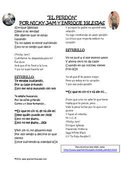 Fiesta Friday!  El Perdon Song Activity and Comprehension Questions