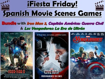 Fiesta Friday!  Superheroes Bundle!  Spanish Movie Games
